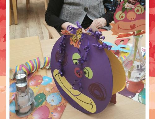 Karnevalsmasken in der Seniorenresidenz Zwischen den Auen