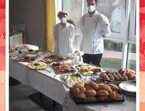 Mitarbeiterfrühstück im Seniorenheim am Rosentor