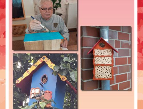 Insektenhotel und Vogelhaus für den Wohnpark Harlingerland